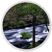 Burney Creek Round Beach Towel