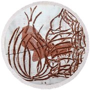 Burning Bush - Tile Round Beach Towel