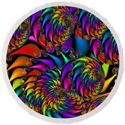 Burning Embers Round Beach Towel