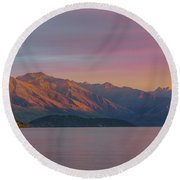 Burning Mountain Round Beach Towel