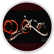 Burning Rings Of Fire Round Beach Towel