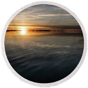 Burnt Reflection Round Beach Towel