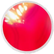 Burst Of Light Round Beach Towel