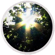 Burst Of Sunlight Round Beach Towel