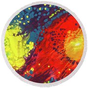 Bursting Recognition Round Beach Towel