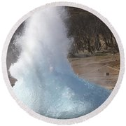 Bursting Water Bubble At Onset Round Beach Towel