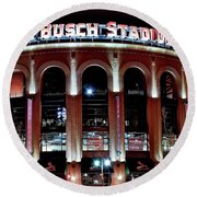 Busch Stadium Round Beach Towel