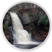 Bushkill Falls Round Beach Towel