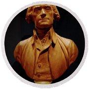 Bust Of Thomas Jefferson  Round Beach Towel