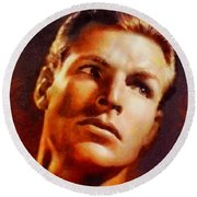Buster Crabbe, Vintage Hollywood Legend Round Beach Towel