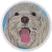 Buster Round Beach Towel