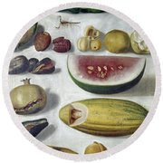 Bustos: Still Life, 1874 Round Beach Towel