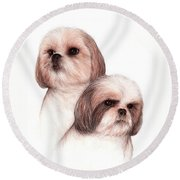 Butch And Bruser Round Beach Towel