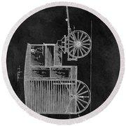 Butcher's Wagon Patent Round Beach Towel