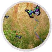Buterflies Dream Round Beach Towel