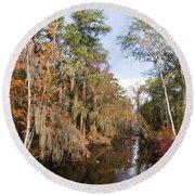 Butler Creek In Autumn Colors Round Beach Towel