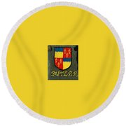 Butler Family Shield Round Beach Towel