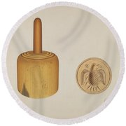 Butter Mold Round Beach Towel
