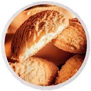 Butter Shortbread Biscuits Round Beach Towel
