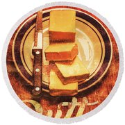 Butter Since Sliced Bread Display Round Beach Towel