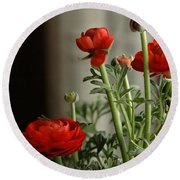 Buttercup Backlight Round Beach Towel