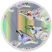 Butterflies In The Vortex Round Beach Towel