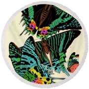 Butterflies, Plate-7 Round Beach Towel