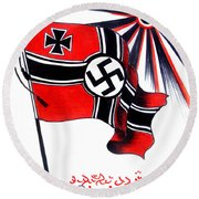 Part Of History Round Beach Towel
