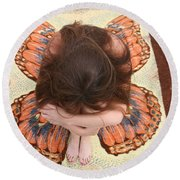 Butterfly 053 Round Beach Towel