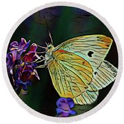 Butterfly 18718 Round Beach Towel