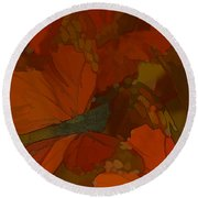 Butterfly Abstract Round Beach Towel