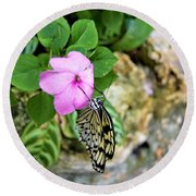 Butterfly Banquet Round Beach Towel