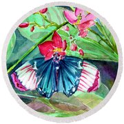 Butterfly Buffet Round Beach Towel