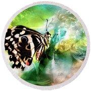 Butterfly Daydream Round Beach Towel