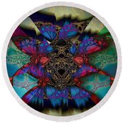 Butterfly Effect 2  Round Beach Towel