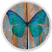 Butterfly Exhibition 1 Round Beach Towel