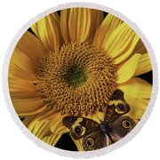 Butterfly Eyes Round Beach Towel