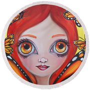 Butterfly Fairy Round Beach Towel