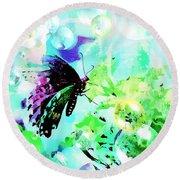 Butterfly Fantasty Round Beach Towel