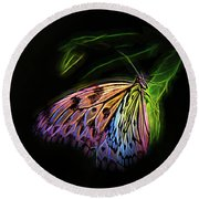Butterfly Fantasy 1a Round Beach Towel