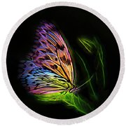 Butterfly Fantasy 2a Round Beach Towel