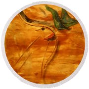 Butterfly Kiss - Tile Round Beach Towel