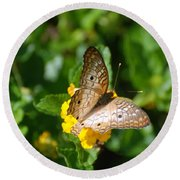 Butterfly Land Round Beach Towel