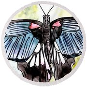 Butterfly Macro Round Beach Towel
