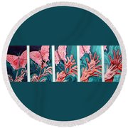 Butterfly Metamorphis Round Beach Towel