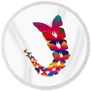 Butterfly Migration Round Beach Towel