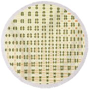 Butterfly Multiplication Abstract, Round Beach Towel