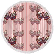 Butterfly Pattern Round Beach Towel