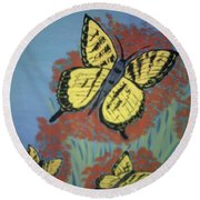 Butterfly Picnic Round Beach Towel