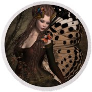 Butterfly Princess Of The Forest 2 Round Beach Towel